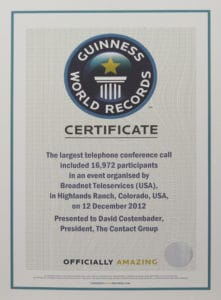 Guinness World Record Telephone Townhall Assembly
